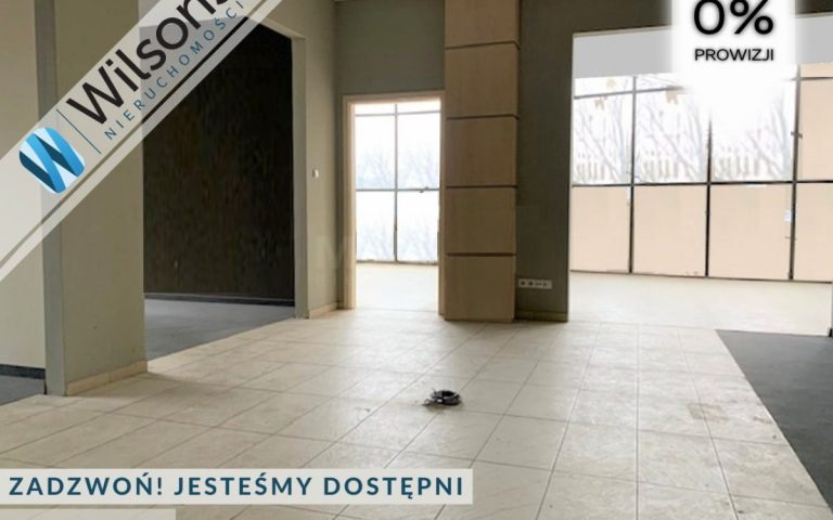 I am renting a commercial space of 320 m2, W-wa Wesoła