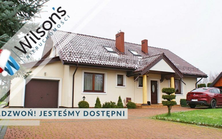 House 180 m2 on a charming plot of 1686 m2 in Jaktorów.