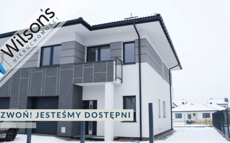 Książenice, a semi-detached house, 5 rooms with garage and fireplace