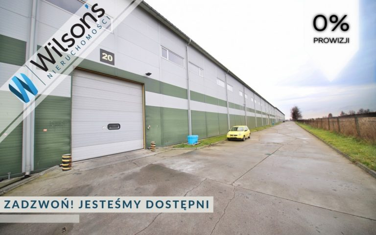 Warehouse 3680 m with offices, heated, south of Warsaw